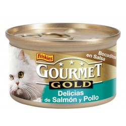 Groumet gold Delicias Salmon Pollo 85 gr a 0.58