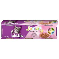 LATA WHISKAS JUNIOR 200 gr.  24 LATAS  ( O,94 LATA)