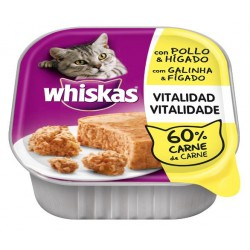 TARRINAS WHISKAS POLLO 100 gr. ( 32 tarrinas ) ( 0,65 Tarrina )